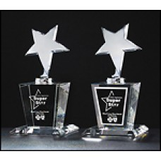 Constellation Series Chrome Star on Crystal Base